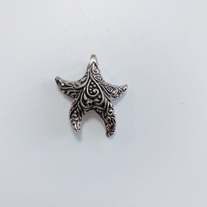 925 Sterling Silver Starfish Pendant